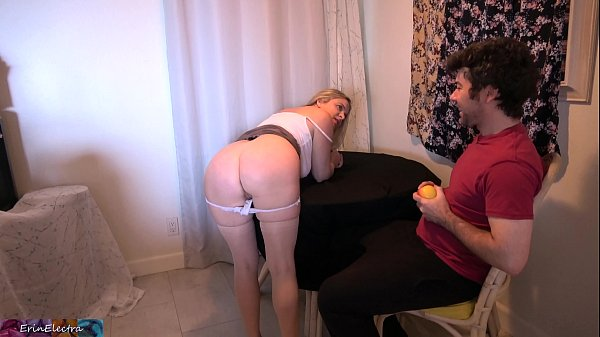 Stepmom gets fed up and takes it in the ass